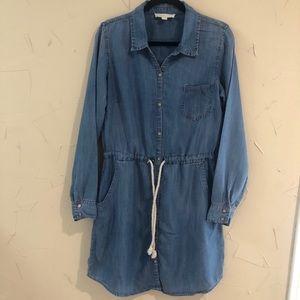 LoveStitch Denim Shirt Dress Size Medium